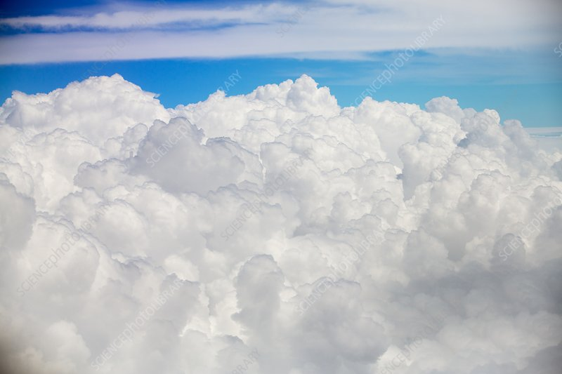 cumulonimbus cloud seen from an airplane