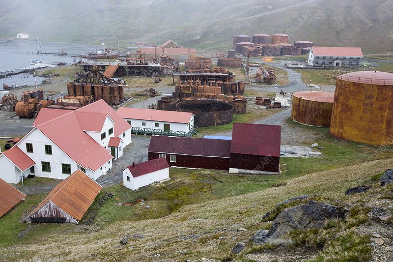 The old whaling station at Grytviken