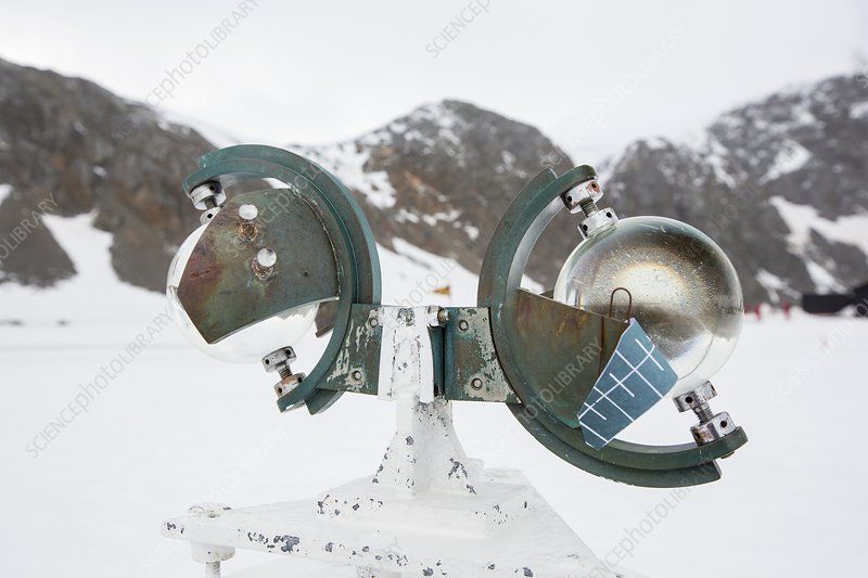A Campbell Stokes Sunshine Recorder,