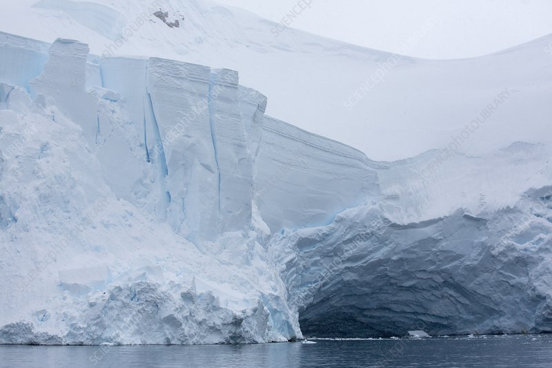 Retreating glaciers in Wilhelmina Bay