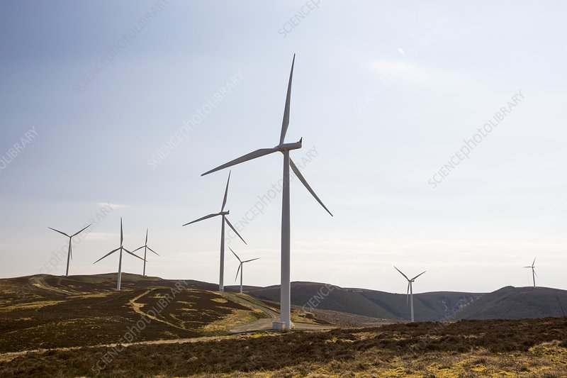 The Clyde windfarm, Scotland, UK