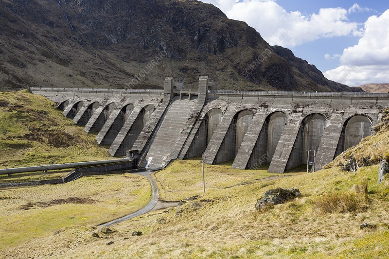 The Lawers hydro dam, UK