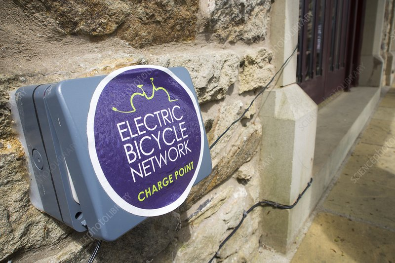 An electric bike recharging point