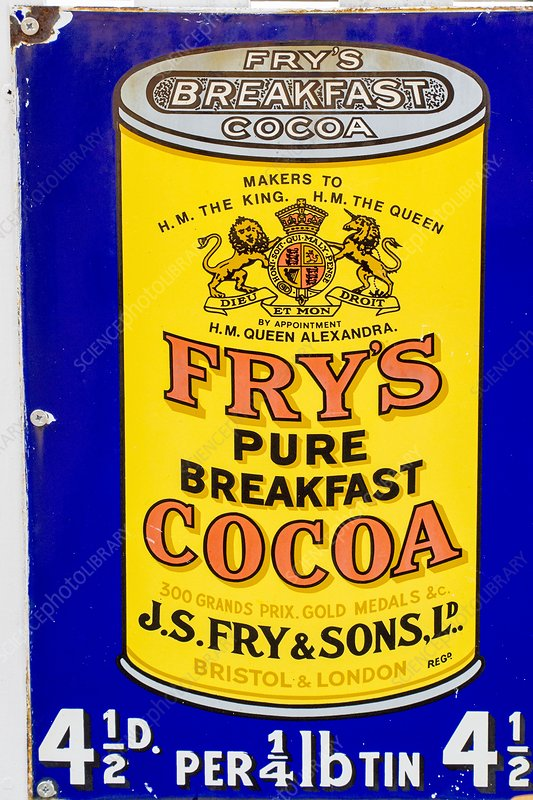 An old advert for Fry's cocoa