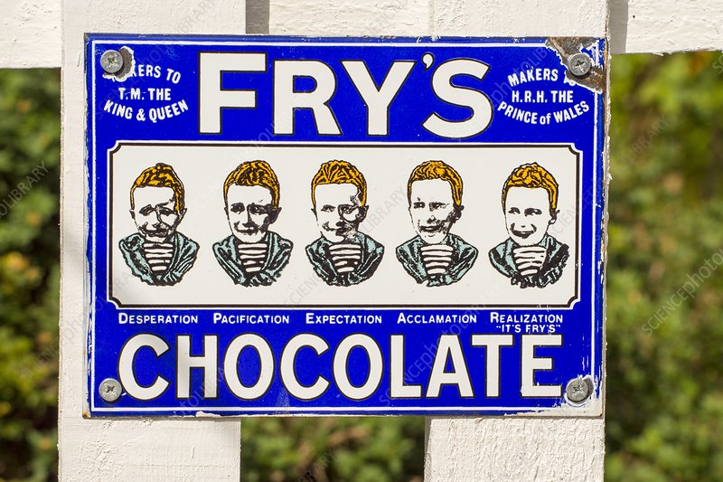 An old advert for Fry's Chocolate