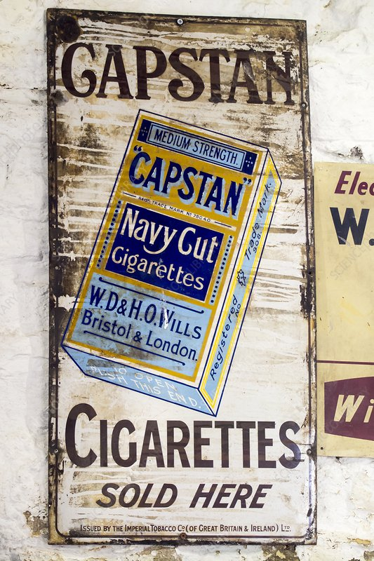 An old advert for Capstan Cigarettes