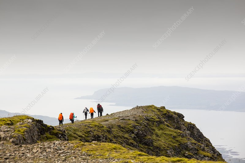 walking group on Ben More
