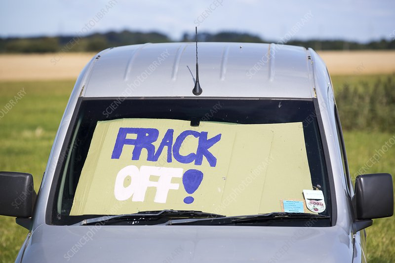 A protest camp against fracking