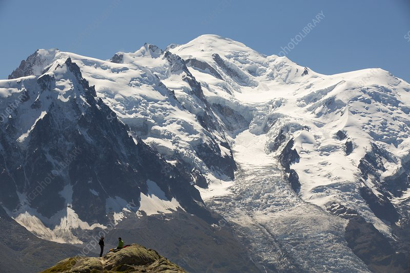 The Mont Blanc range above Chamonix