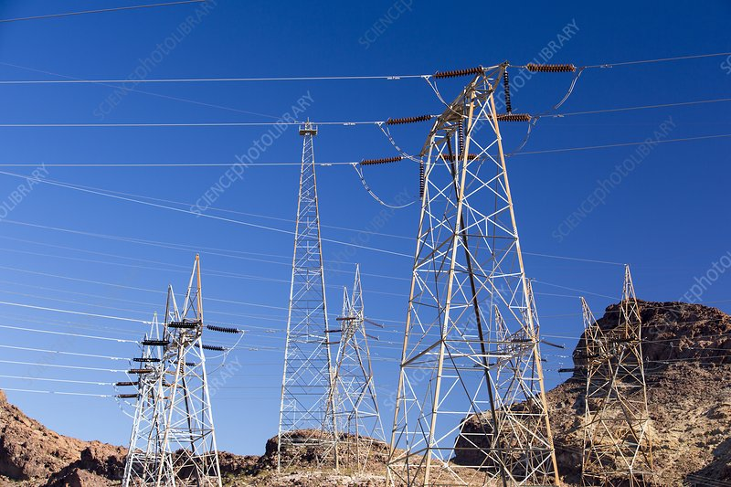 Pylons taking hydro electricity