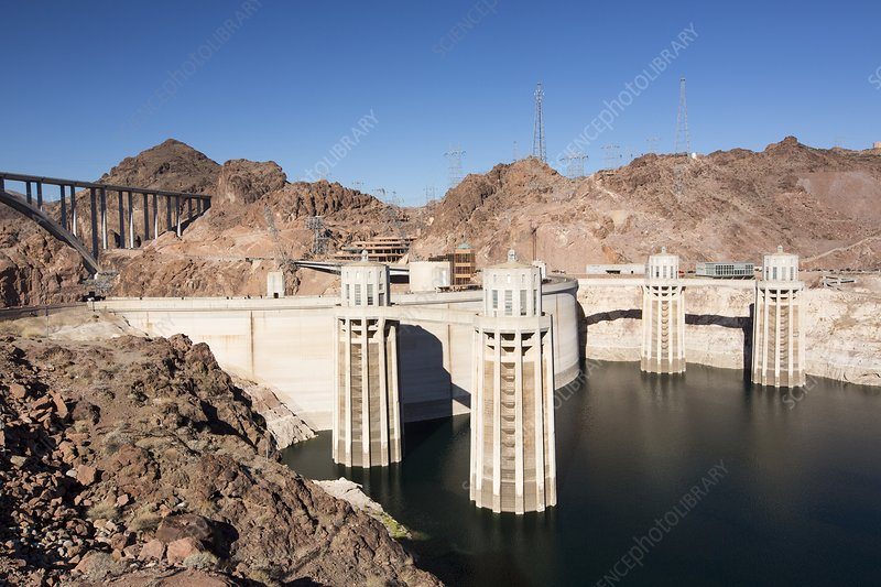 Intake towers for the Hoover Dam