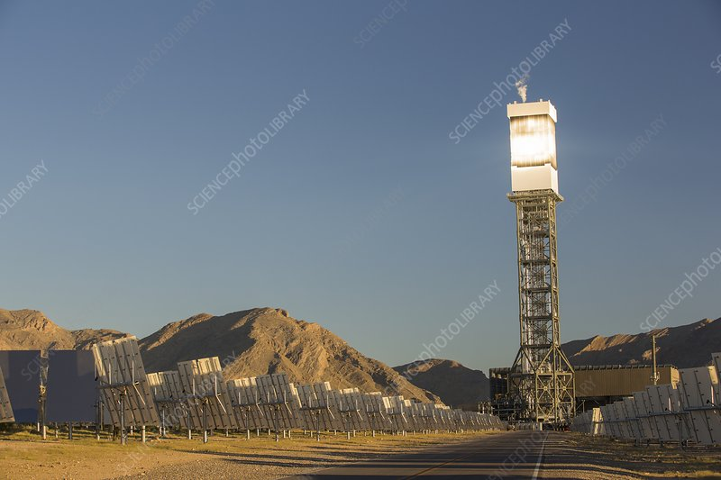 The Ivanpah Solar Thermal Power Plant