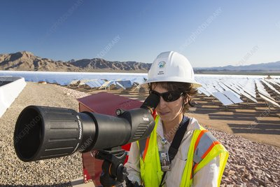 Bird survey, Solar thermal power plant