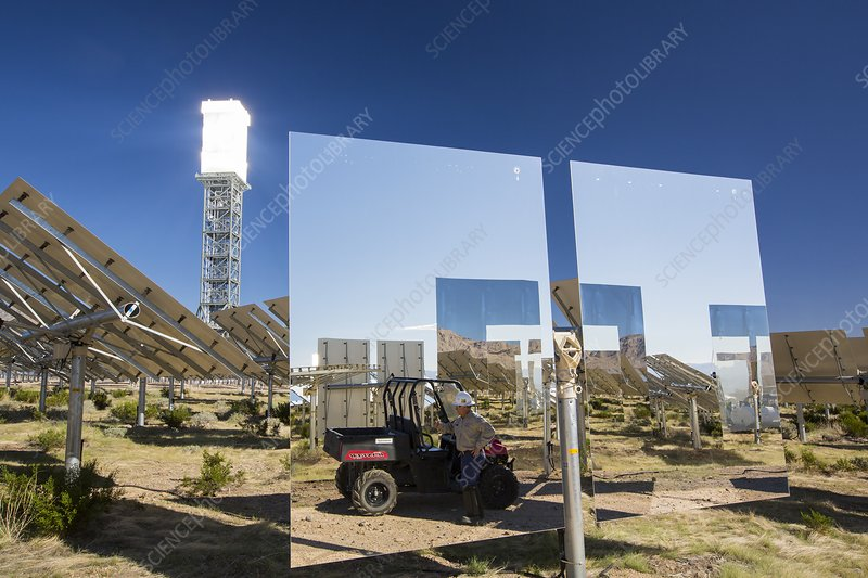 Heliostats at the Ivanpah Solar