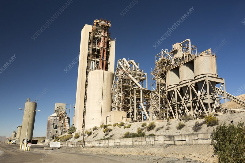 A cement works at Tehachapi Pass