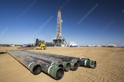 Drilling for oil, USA