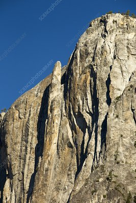 A pinnacle on a cliff in Yosemite Valley