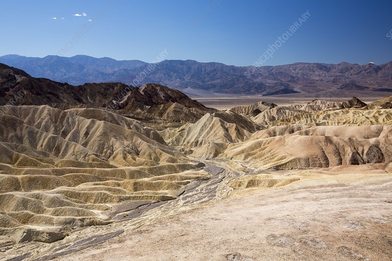 Badland scenery at Zabriskie Point