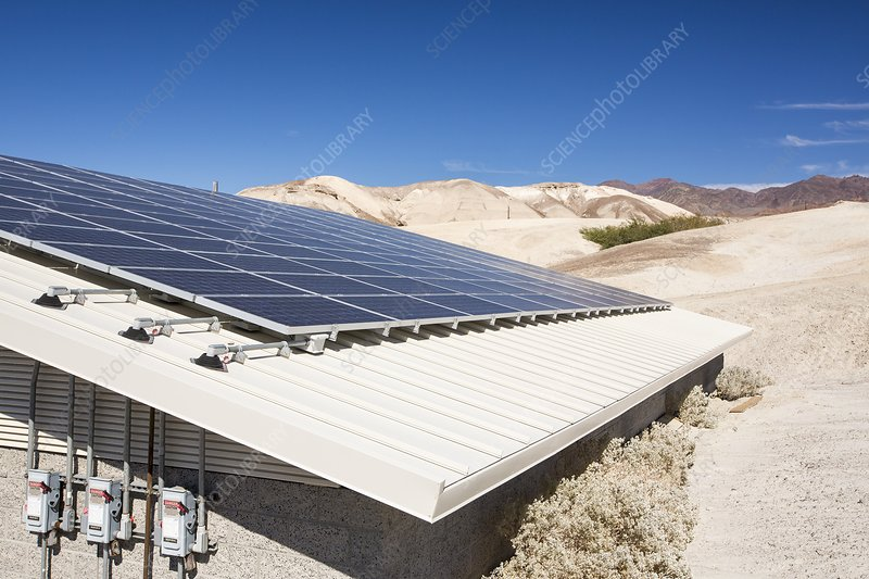 Solar panels in Death Valley