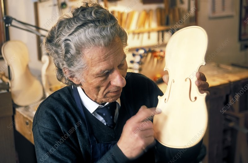 Violin-maker at work