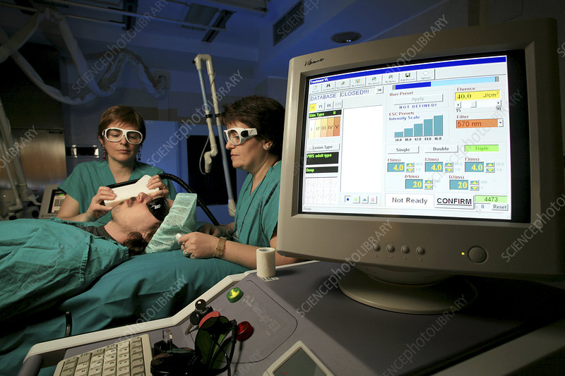 Laser therapy operation