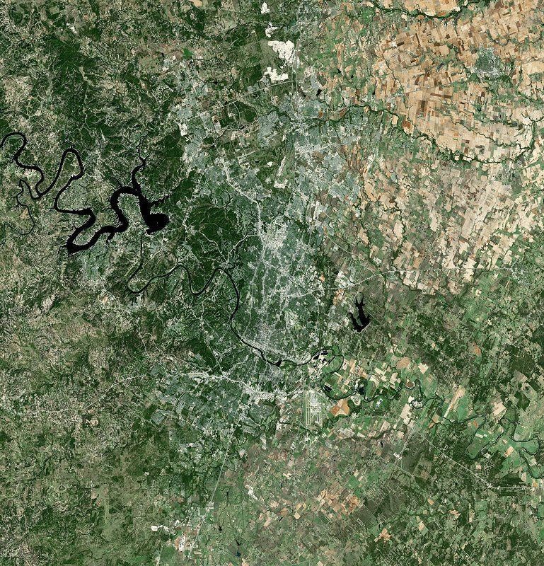 Austin, Texas, USA, satellite image