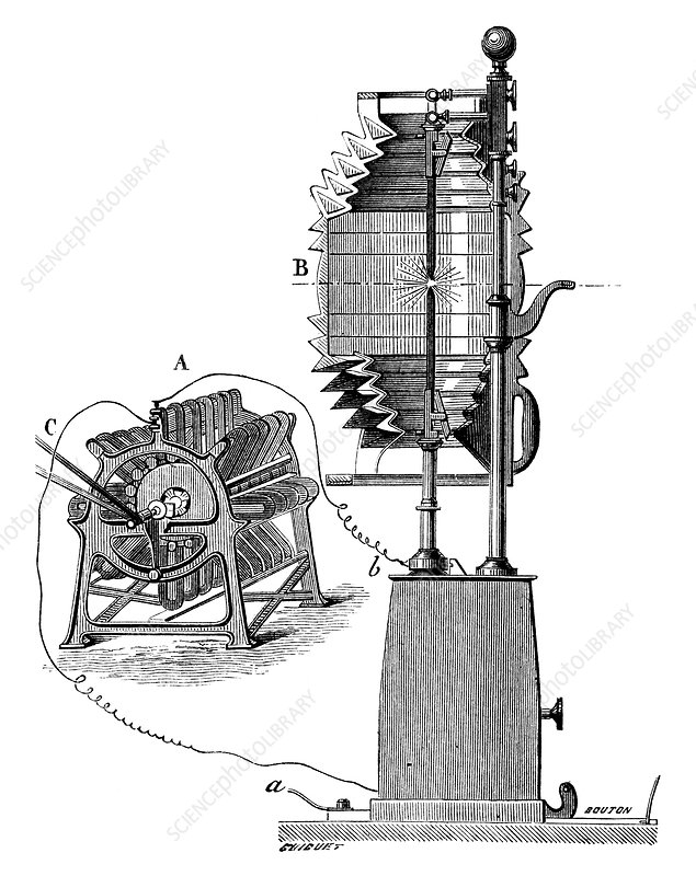 Lighthouse electric light, 19th century