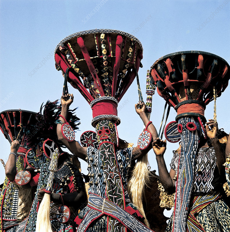 Bamileke elephant mask dancers