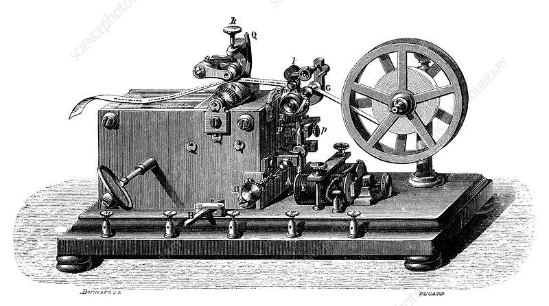 Morse telegraph receiver, 19th century - Stock Image C024 ...  Morse telegraph...
