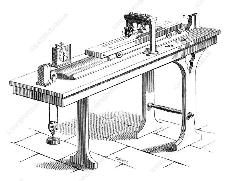 Bonelli telegraph, 19th century - Stock Image C024/6456 ...  Bonelli telegra...