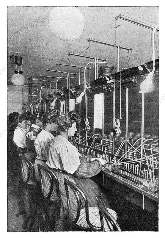 Telephone operators, early 20th century