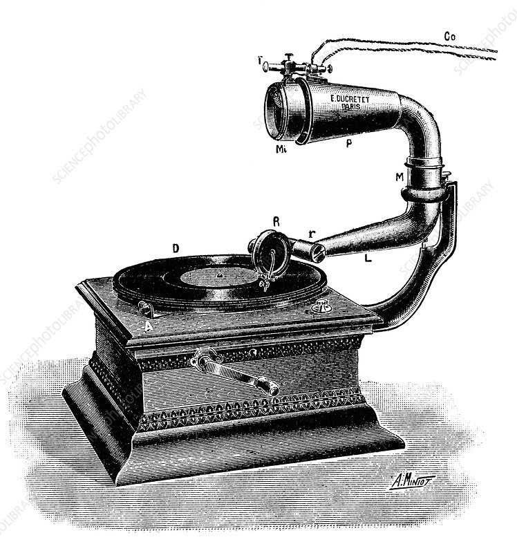 Telemicrophonograph, early 20th century