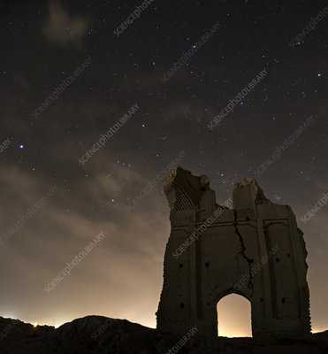 Night sky over Sar Yazd, Iran
