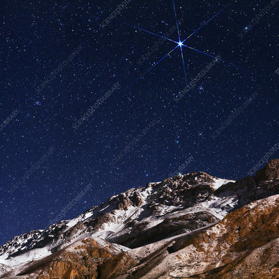 Night sky over the Alborz Mountains, Iran