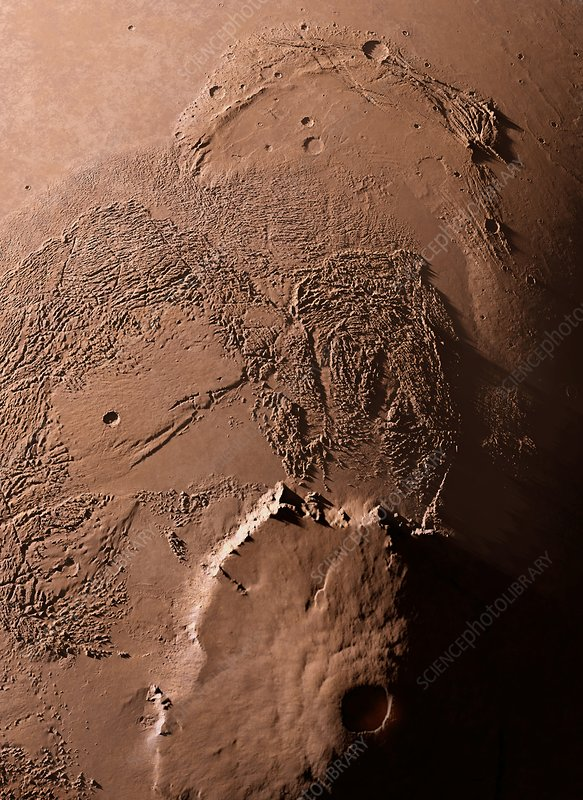 Olympus Mons, Mars, artwork