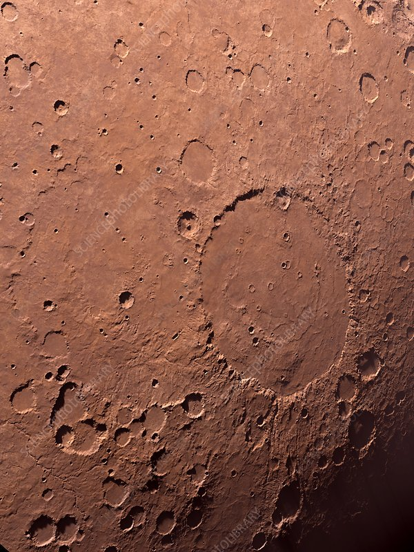 Schiaparelli Crater, Mars, artwork
