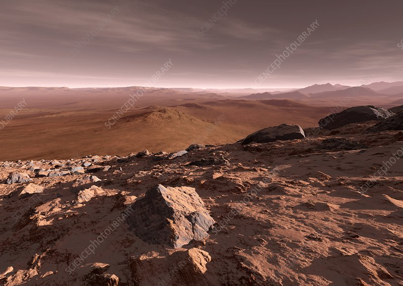 Valles Marineris, Mars, artwork