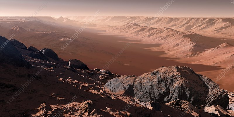 Canyons on Mars, artwork