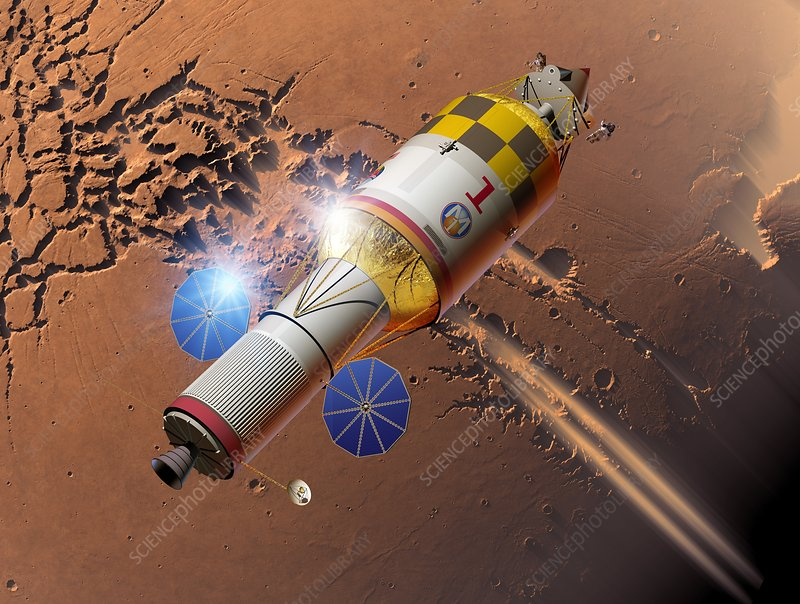 Manned mission to Mars, artwork