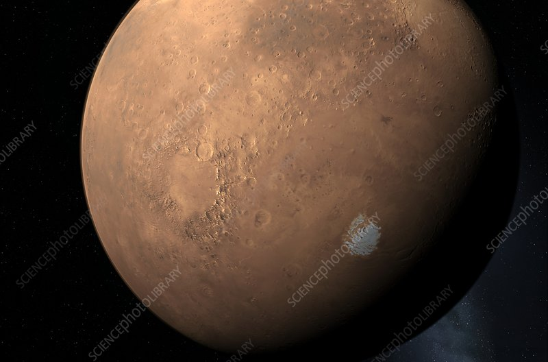Mars South Pole, artwork
