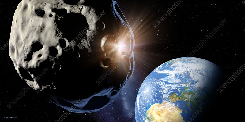 Asteroids colliding near Earth