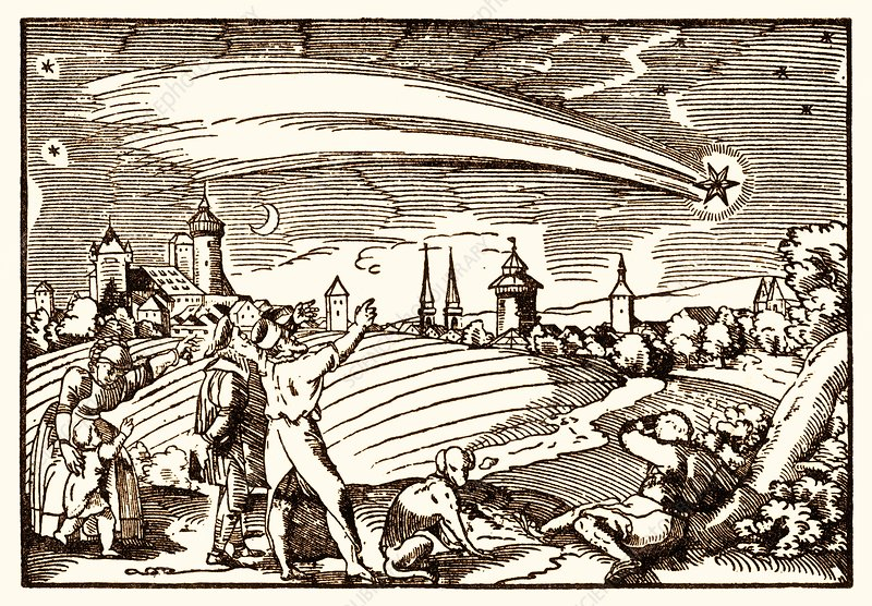 Great comet of 1577, illustration