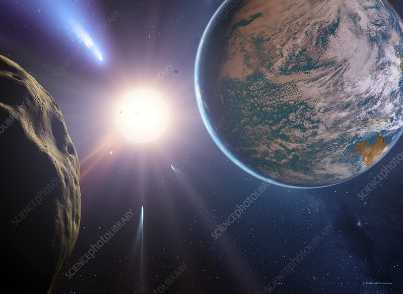 Comet approaching Earth-like planet