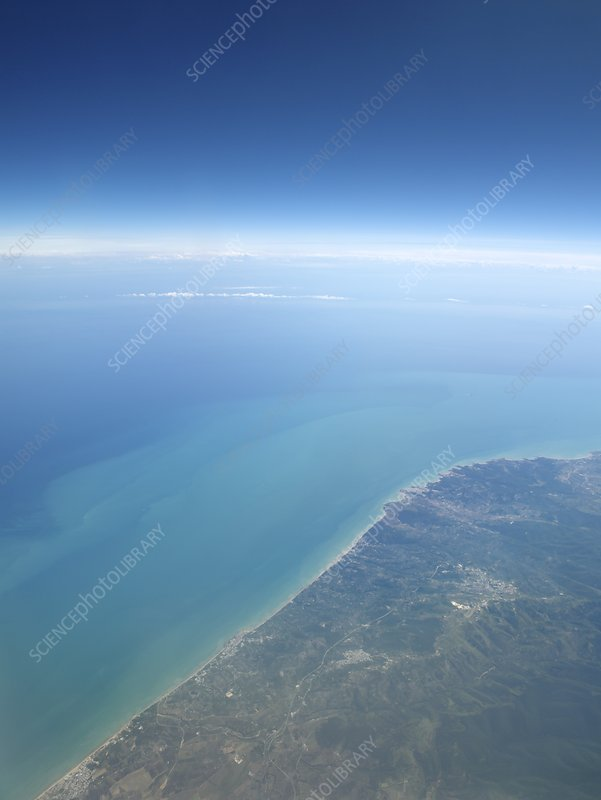 Adriatic Sea from space, illustration