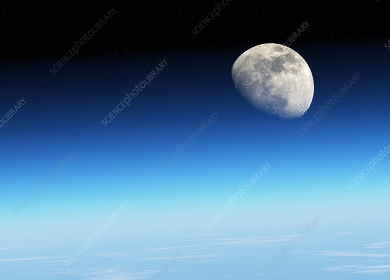 Moon over the Earth, illustration