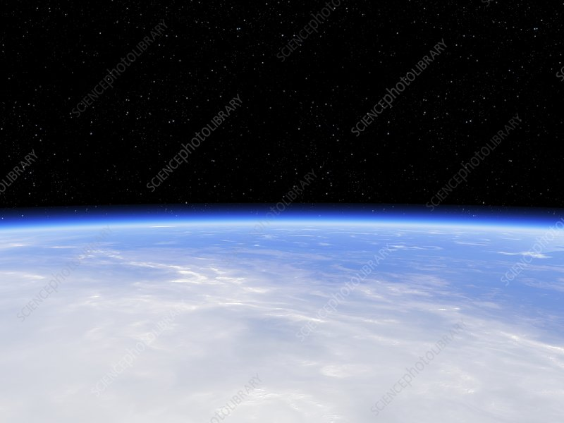 Earth's atmosphere from orbit - Stock Image C024/7087 ...