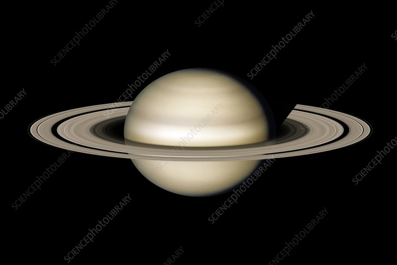 Saturn from space, illustration