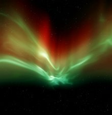 Aurora in the night sky
