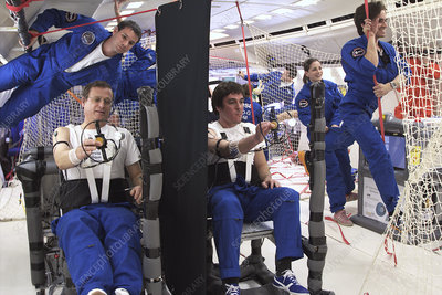 Astronauts training in free-fall