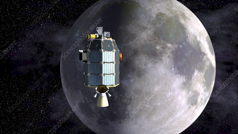 LADEE spacecraft over the Moon
